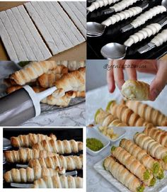 Make at Home Filled Puff Pastry Good Food, Yummy Food, Homemade Pancakes, Puff Pastry Recipes, Pancake Recipes, Snacks Für Party, Finger Foods, Appetizer Recipes, Appetizers