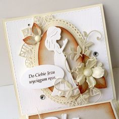 Z idealną ramką / With perfect frame Invitation Cards, Invitations, Exploding Boxes, First Holy Communion, Quilling, Wedding Anniversary, Wedding Cards, Card Making, Paper Crafts