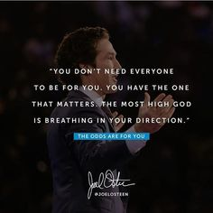 null    #Regram via @_joelosteen_fan_page Most High, Joel Osteen, Verse Of The Day, Daily Bread, Fan Page, Prayers, Spirituality, Bible, God