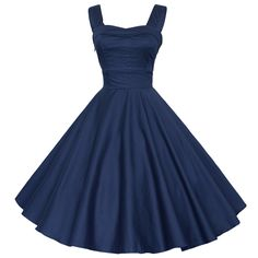 Maggie Tang 50 Vintage Cocktail Swing Rockabilly Ball Gown Dress Navyblue S Ball Gown Dresses, 50s Dresses, Rockabilly Dresses, Rockabilly Party, Vintage Gowns, Vintage Outfits, Dress Vintage, Pretty Outfits, Pretty Dresses