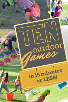 Easy backyard games - Get outside playing games with your kids with 15 MINUTES OR LESS PREP! No carpentry or stonemason skills required! Pool Games, Backyard Games, Water Games, Fun Games, Awesome Games, Outdoor Party Games, Outdoor Fun, Outdoor Teen Games, Outdoor Dates