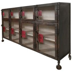 "Heavy Industrial ""Coupe"" Style Cabinet"