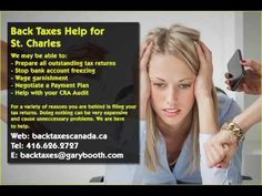 St Charles   Back Taxes Canada.ca   416-626-2727   taxes@garybooth.com   CRA Audit, Tax Returns