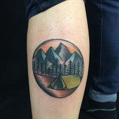 Camping Tattoo by Nate Stephens