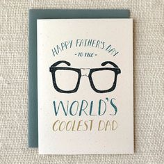 """""""World's Coolest Dad"""" Father's Day Card"""