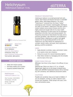 doTERRA Helichrysum Essential Oil Uses & Benefits - Best Essential Oils Helichrysum Essential Oil Uses, Buy Essential Oils, Natural Essential Oils, Essential Oil Blends, Essential Oil Diffuser, Helichrysum Oil, Natural Oils, Natural Health, Melaleuca