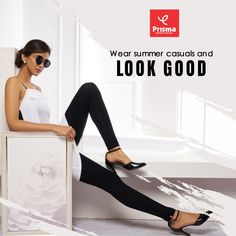 Fashion girls those who love wearing smart casuals should try Prisma's Ankle #Leggings that comes with four-way super stretch and other interesting features. You can wear it with off-shoulder fancy shirts or tops and add color to your life. #prisma #prismaleggings #stayhome #staysafe #covid19 #coronavirus #prismagirl #brandprisma #womenswear  #comfortwear #livafluid #premiumquality #shop #trend #style #outfit #shopping #onlineshopping Smart Casual, Casual Looks, 4 Way Stretch Fabric, Girl Fashion, Women Wear, Fancy, Leggings, Ankle, Stylish