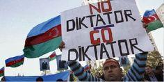 Manifestantes en Bakú exigen renuncia del presidente Aliyev