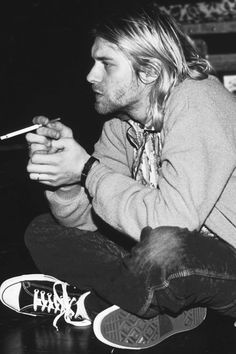 "There are some days when I find long hair, cigarettes, & the ""grunge"" look incredibly sexy..."