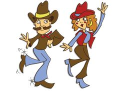 line dancing Clip Art | Country Line Dancing Clipart A Country Line Dance Sheet