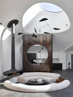 Loft Interior, Luxury Interior, Interior And Exterior, Bathroom Interior, Home Room Design, Living Room Designs, Casa Pop, Architecture Design, Futuristic Architecture