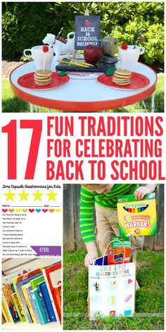 17 Traditions for Celebrating Back-to-School These back to school traditions are so much fun! They allow everyone in the family to spend time together and make memories year after year! Back To School Breakfast, Back To School Party, Back To School Hacks, 1st Day Of School, Back To School Supplies, Back To School Shopping, School Parties, School Snacks, School Fun