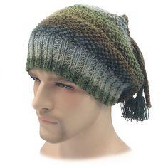 3219f3f9bc8 Green Dreadlock Hat Silk mix Slouchy beanie Dreads Hat Tube Dreads Beanie  Slouch Beanie Tube Beanie Rasta Beanie cap Slouchy Tam Mens hat