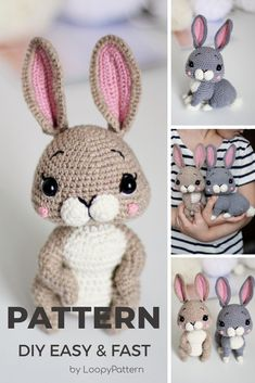cute Crochet 357543657921112728 - 2 in 1 PATTERN crochet BUNNY pdf tutorial how crochet Easter bunny rabbit baby gift crochet hare by LoopyPattern amigurumi rabbit nurcery decor Easter gift Source by Easter Crochet Patterns, Crochet Bunny Pattern, Crochet Rabbit, Crochet Patterns Amigurumi, Cute Crochet, Crochet Dolls, Crochet For Easter, Amigurumi Tutorial, Amigurumi Doll