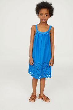 Cotton Dress   Bright blue   KIDS   H&M US