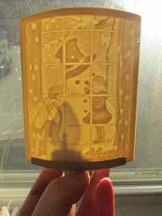 Christmas Snowman Children Curved Porcelain Lithophane Curved Night Light