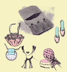 50s Bags Scuff Slippers Accessories by allthepreciousthings