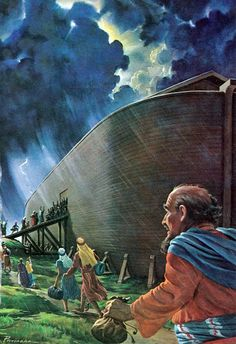 "Jesus said that those at the Flood ""TOOK NO NOTE, and the Flood came and swept them all away. SO the presence of the Son of Man will be."" See Matthew 24:39 God shut the Ark door and sealed it. It was too late for those who had ignored God's warning by means of Noah."