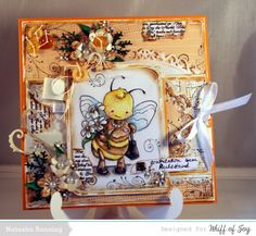 Whiff of Joy retirement lady bee digital stamp