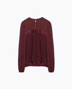 BLUSA COMBINADA-Blusas-Camisas-Mulher-COLECÇÃO SS16 | ZARA Portugal