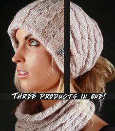 Image of Houdini Beanie (3in1)This cozy product transforms from a beanie to a scarf (Neck Gaitor) to a head-wrap in just seconds! A great product to have handy for many different occasions or those day when the weather won't make up its mind!   Currently available in one color (creme) as shown.