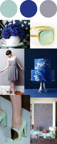 {Jennifer Laura Design} - BLOG - Pretty Palette: Mint, Cobalt, and Gray