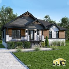 One Story Homes, First Story, Facade, Cabin, Mansions, House Styles, Home Decor, Instagram, House Foundation