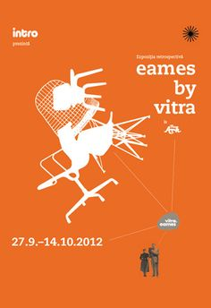 "Our poster for the ""Eames by Vitra"" exhibition"