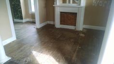 Living room carpet removed