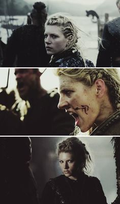 "Lagertha: ""You couldn't kill me if you tried for a hundred years."" #vikings"