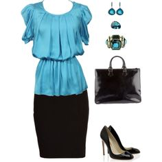 Pretty work outfit.
