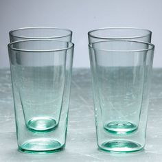 Southern Living Set of 4 Large Glass Tumblers