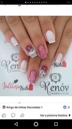 Cute Nails, Pretty Nails, My Nails, Stamping Plates, Flower Nails, Nail Polish Colors, Nail Arts, You Nailed It, Nail Art Designs