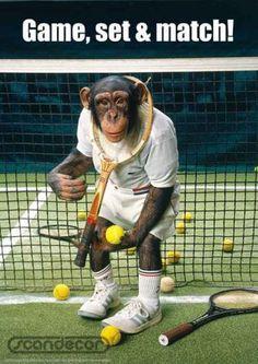 "tennis ""monkey"" @Emily Schoenfeld Greiner this should be ur new tennis name. lol"