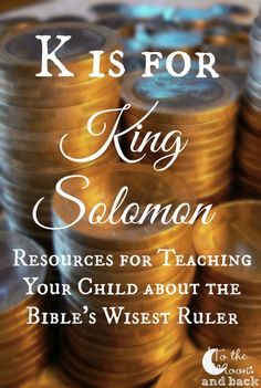 K is for King Solomon. Mystery of History Volume Lesson 33 Bible Resources, Bible Activities, Sunday School Activities, Sunday School Crafts, Bible Lessons, Lessons For Kids, Preschool Lessons, Emmanuel Bible, Youth Bible Study