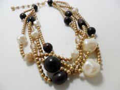 Vintage Necklace / Collar / Choker Large Baroque by KathiJanes, $19.95