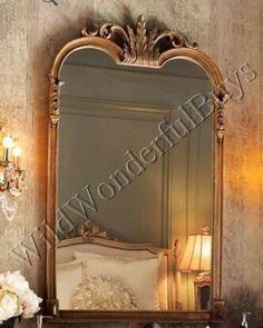 gold mantle mirror
