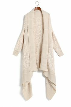 Airport Greeting Cardigan in Charcoal - Grey, Solid, Casual, Long ...