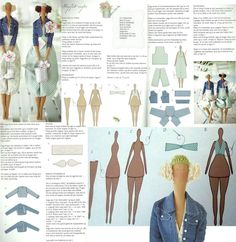 Best 12 Mimin Dolls: Mais Tildas by edith – SkillOfKing.Tilda angel with pattern Jean jackets Fabric Dolls, Paper Dolls, Sewing Crafts, Sewing Projects, Doll Tutorial, Sewing Dolls, Waldorf Dolls, Doll Hair, Soft Dolls