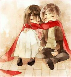 Eren Jaeger & Mikasa Ackerman. I just couldn't resist posting this. It is too cute even for words!