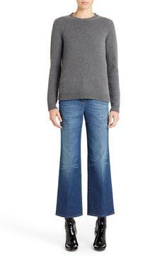 Free shipping and returns on Valentino Studded Crewneck Cashmere Sweater at Nordstrom.com. Shining goldtone pyramid studs trace the sides of a luxe crewneck sweater crafted in Italy from deliciously soft cashmere and framed in rib-knit trim.