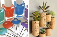 Mini DIY projects are perfect for people who aren't gung-ho DIY but still feel the itch to make a little something from time to time. Making this painted key cap or mini succulent planter is instantly gratifying. Each project takes just 10 to 15 minutes. Seriously!