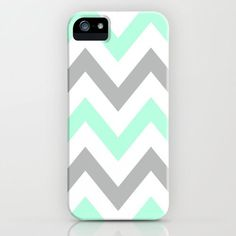 MINT  GRAY CHEVRON iPhone Case! I want it!!!!...... When I get an iPhone....