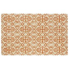 love this orange rug! looks really plush too Kaleen Evolution Tulips Wool Rug