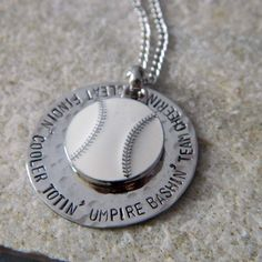 Baseball Mom Handstamped Necklace by WireNWhimsy on Etsy, $30.00