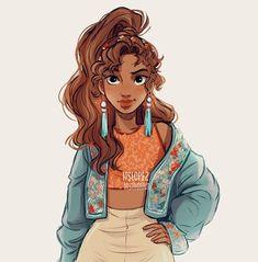 Character Design Illustration~ By Itslopez Cute Girl Drawing, Cartoon Girl Drawing, Girl Cartoon, Cartoon Drawings, Hipster Girl Drawing, Baby Drawing, Art Inspiration Drawing, Character Inspiration, Character Art