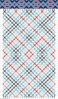 Muster # 75181, Streicher: 28 Zeilen: 46 Farben: 4