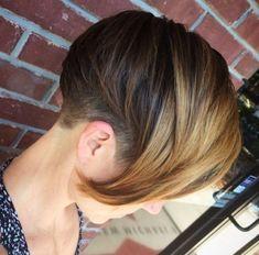 шатуш на темные короткие волосы