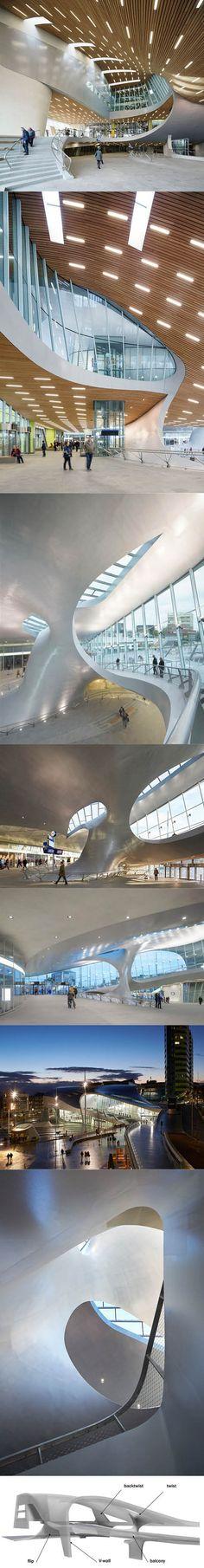 1995-2015 Unstudio - Centraal Station Arnhem / NL / steel glass wood concrete / transportation / parametric