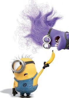Minions share a banana!